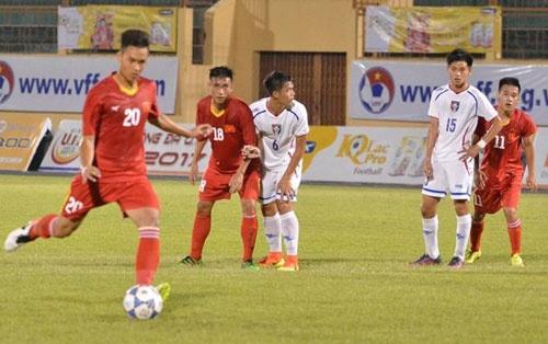 Tran U19 Viet Nam vs U19 Dai Loan anh 9