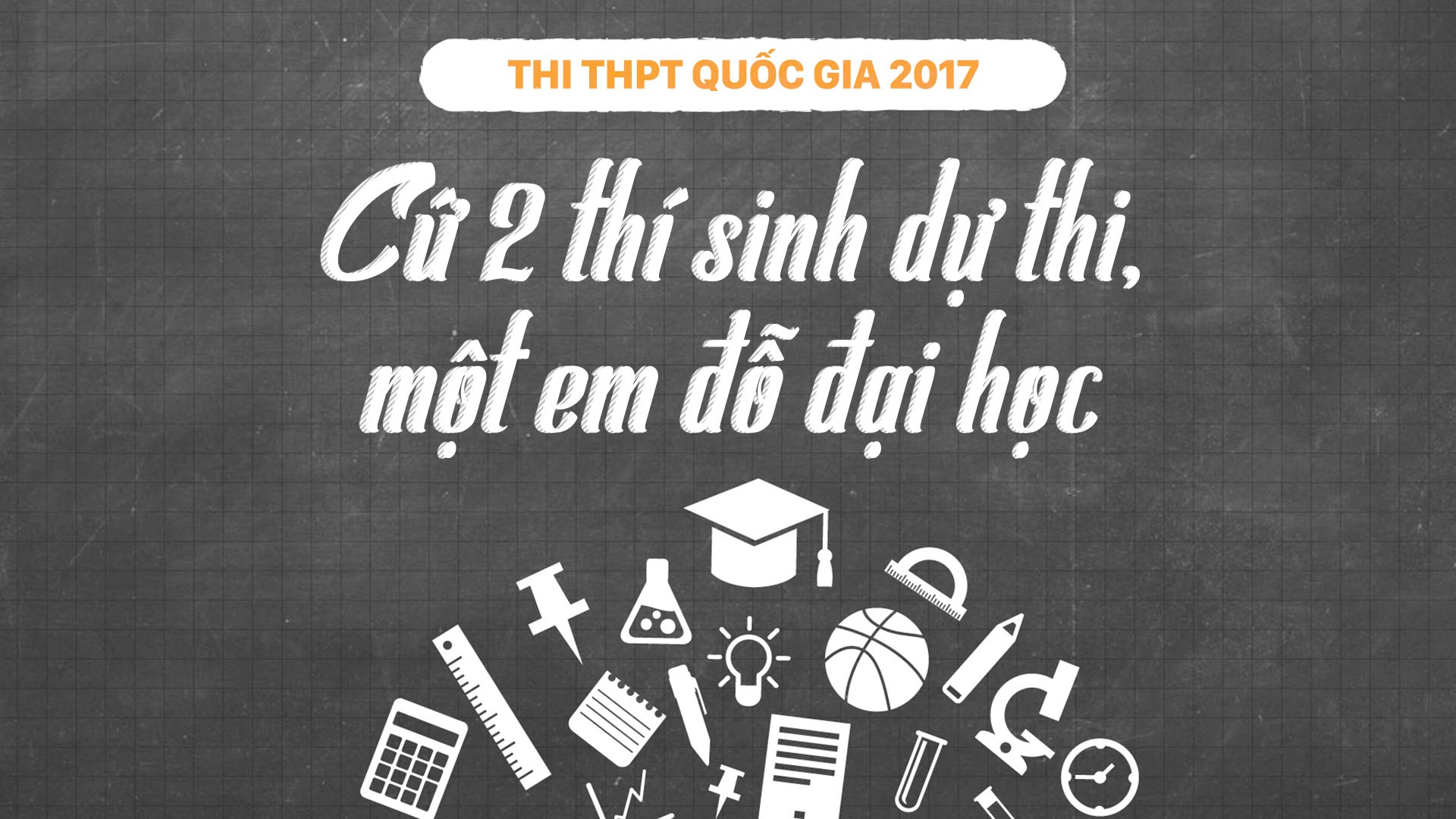 THPT quoc gia 2017: Cu 2 thi sinh du thi, mot em do dai hoc, cao dang hinh anh 1