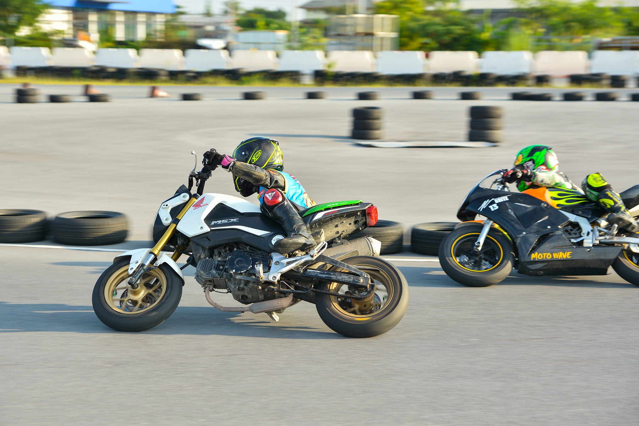 Giai dua moto tre em o Thai Lan va nhung giac mo MotoGP hinh anh 29