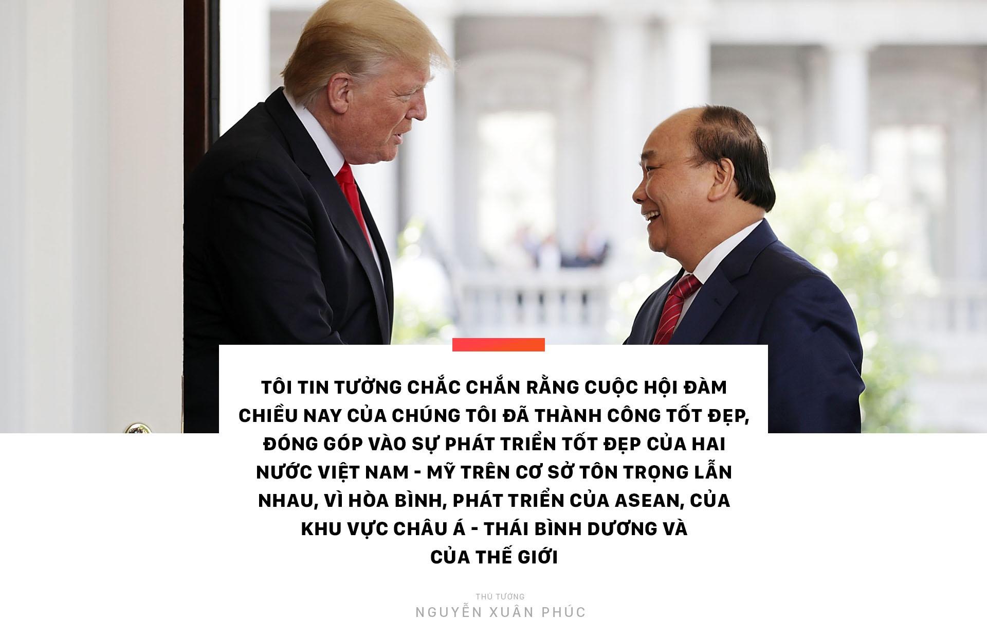 Thu tuong Nguyen Xuan Phuc hoi dam voi Tong thong Donald Trump hinh anh 2