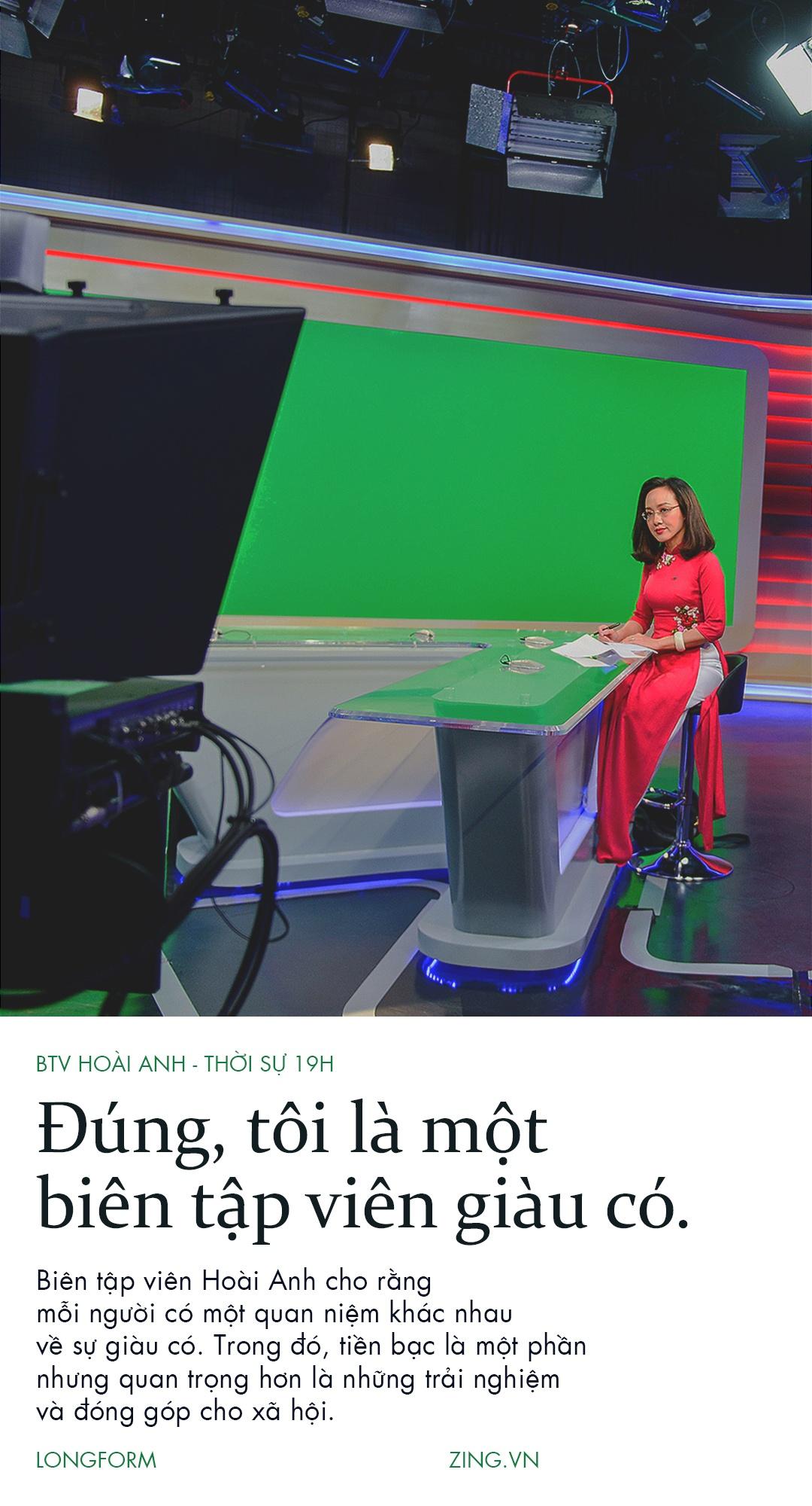 Hoai Anh cua Thoi su VTV: 'Dung, toi la mot bien tap vien giau co' hinh anh 1