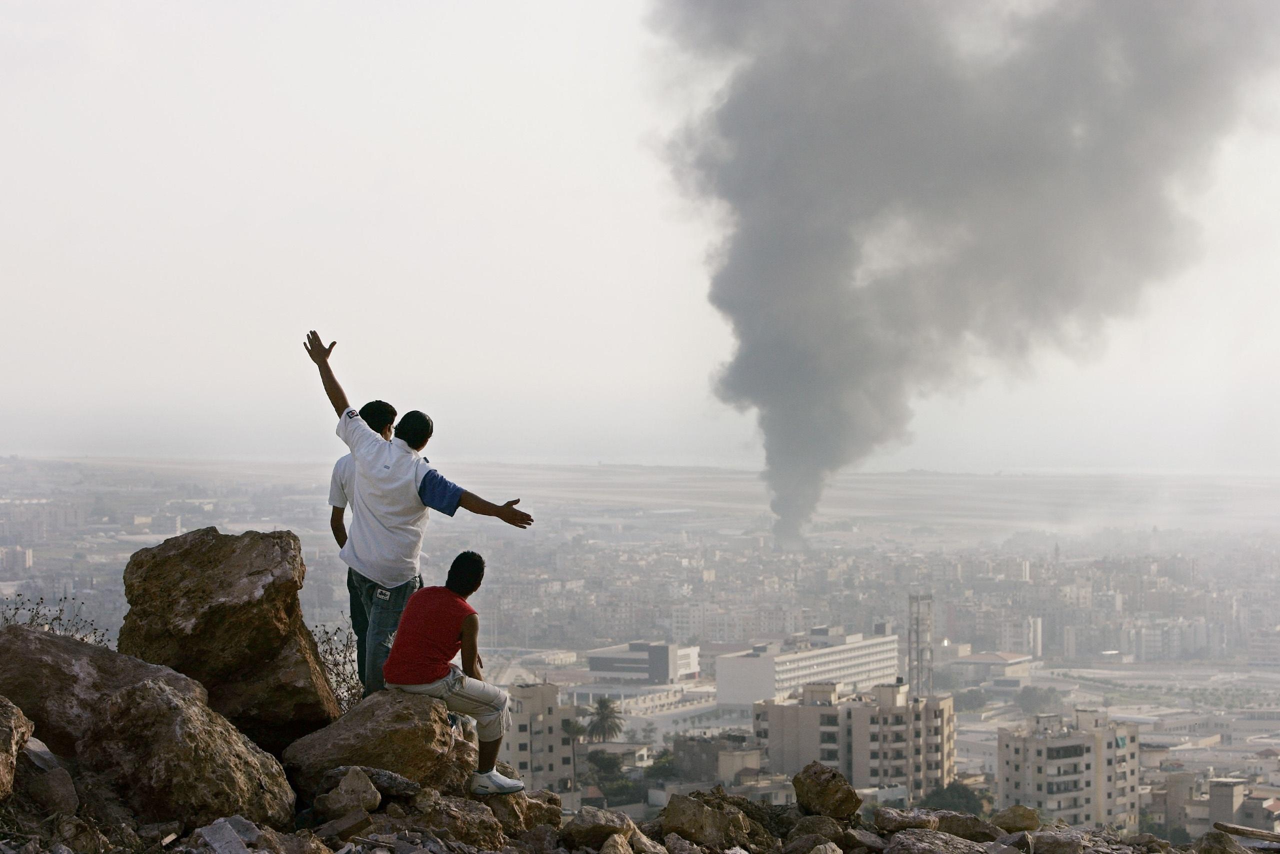 no kinh hoang o Beirut anh 2