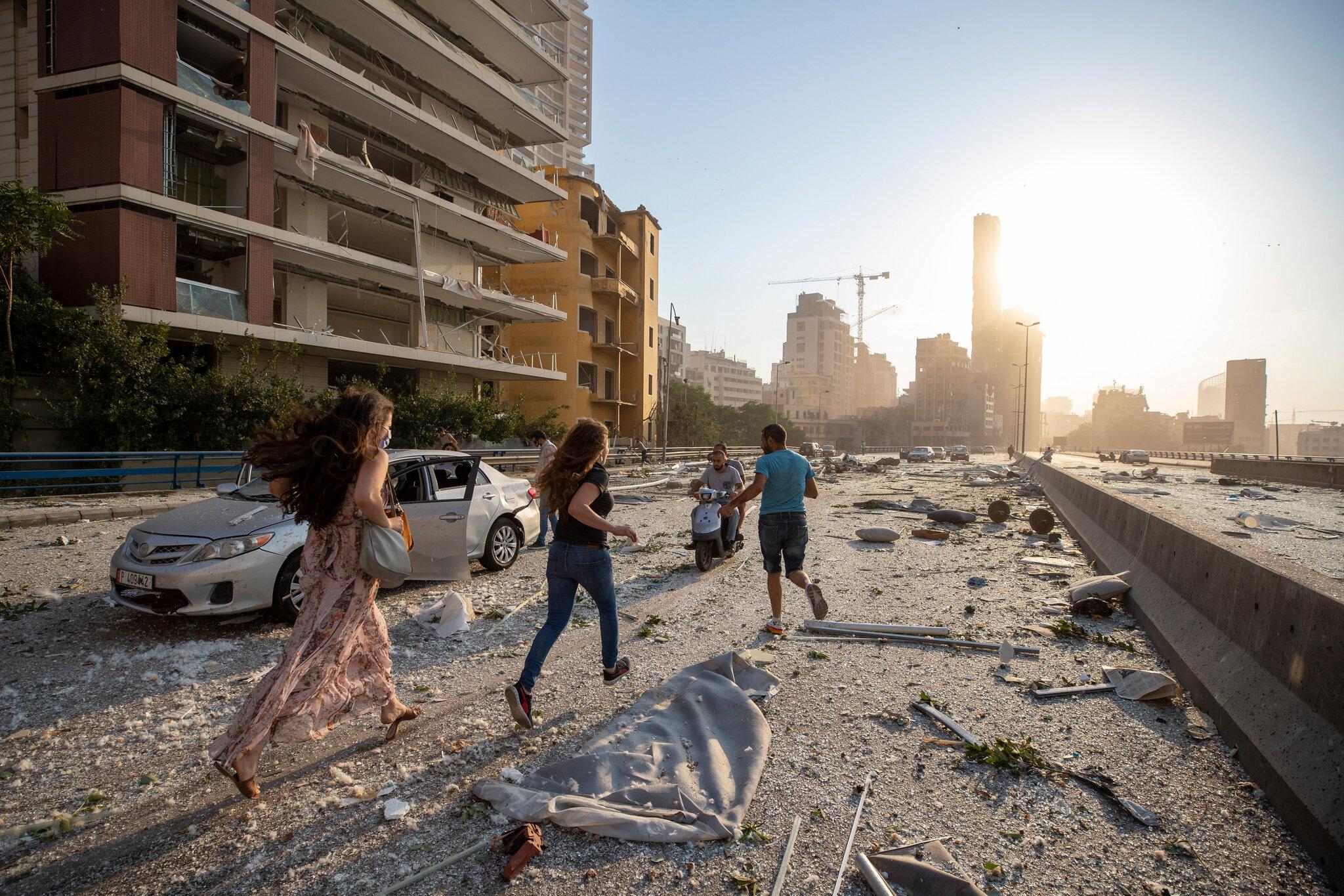 no kinh hoang o Beirut anh 4