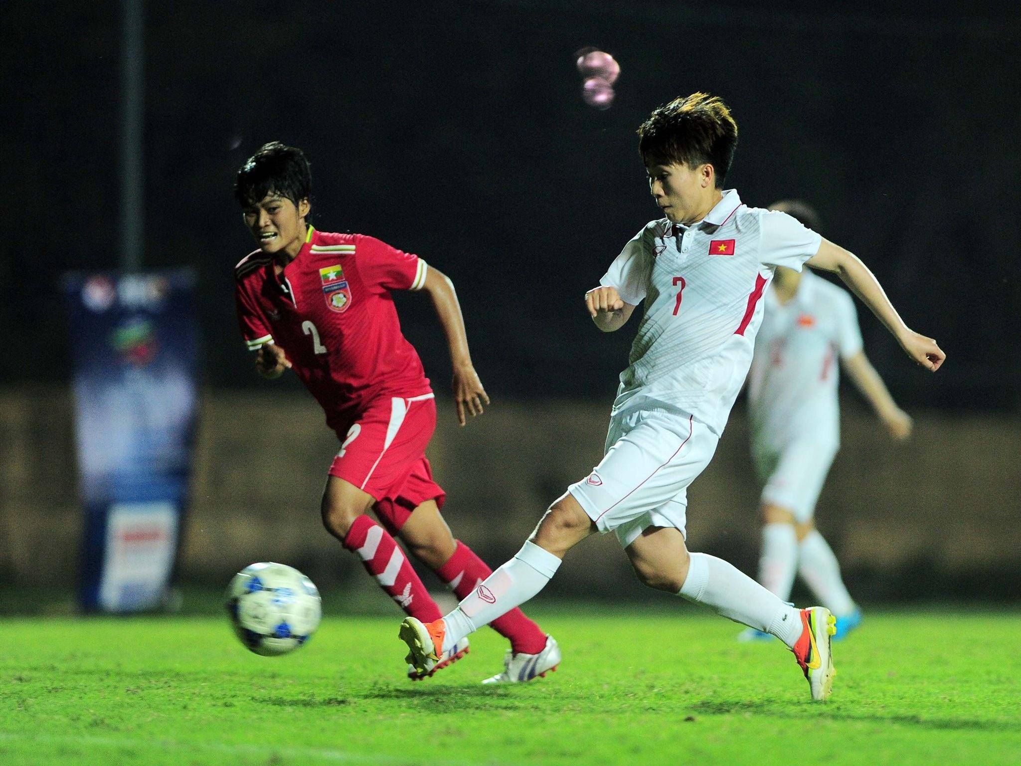 Tuyen nu Viet Nam vs Myanmar anh 7