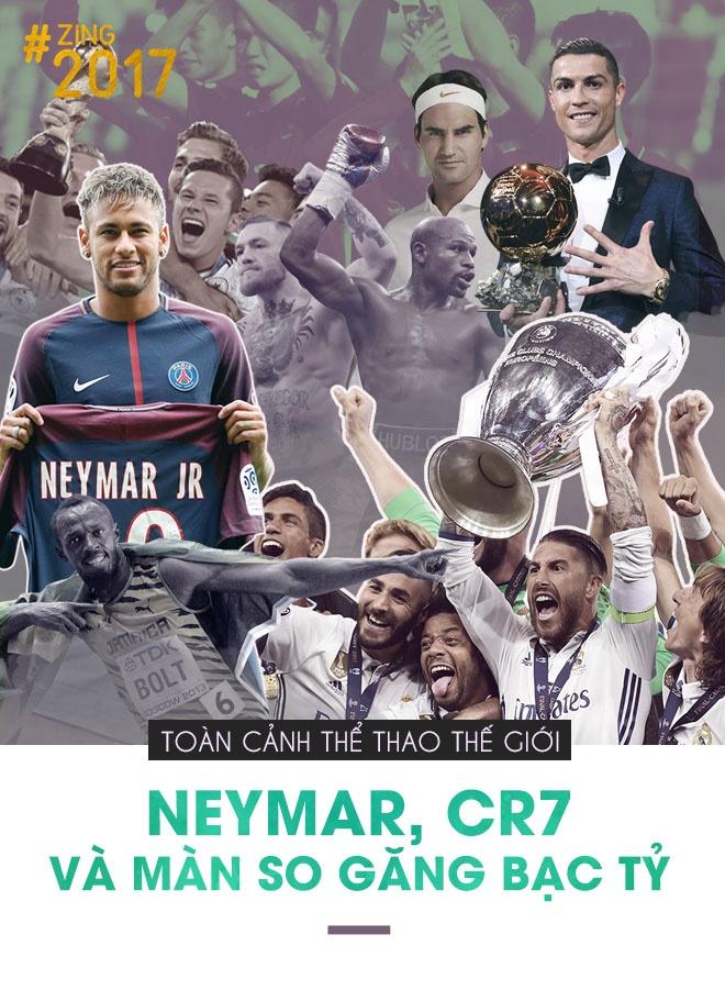 The thao the gioi 2017: Bom tan Neymar, CR7 va tran boxing bac ty hinh anh 1