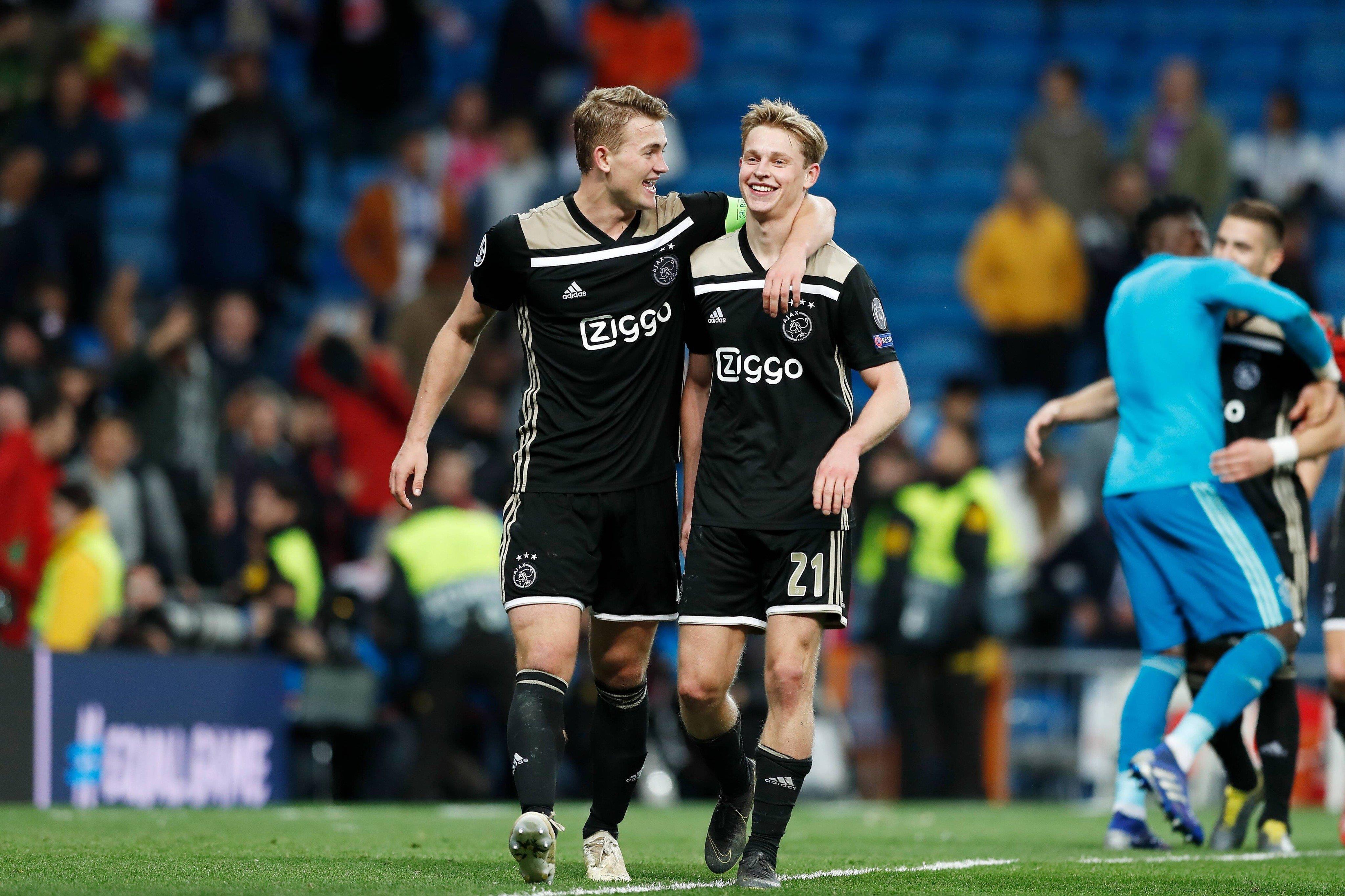 De Ligt và Frenkie De Jong, đại diện cho sức trẻ của Ajax và của cả nền bóng đá Hà Lan. Ảnh: Getty.
