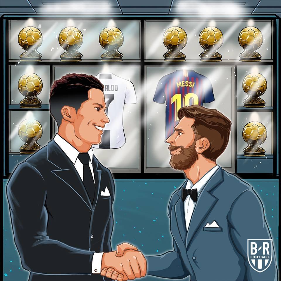 Ronaldo,  Messi,  Qua bong vang,  Modric anh 11