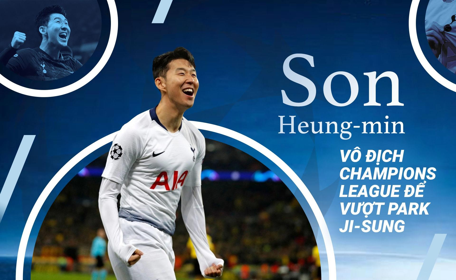 Son Heung-min vo dich Champions League de vuot Park Ji-sung hinh anh 2
