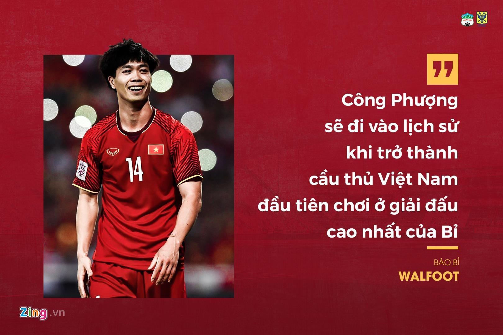 Những thông tin cơ bản về Công Phượng lần lượt được đăng tải trên các tờ báo nước Bỉ. Trang Walfoot gọi Công Phượng là ngôi sao sáng nhất nền bóng đá nước nhà và là
