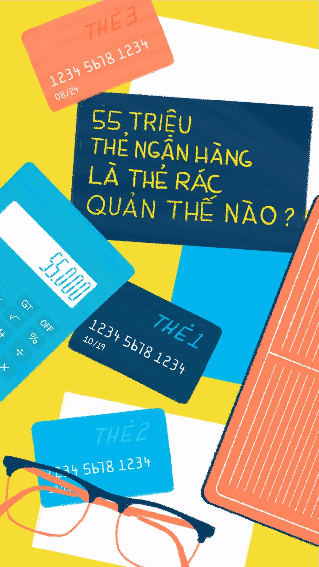 55 trieu 'the rac' ngan hang, quan the nao? hinh anh 1
