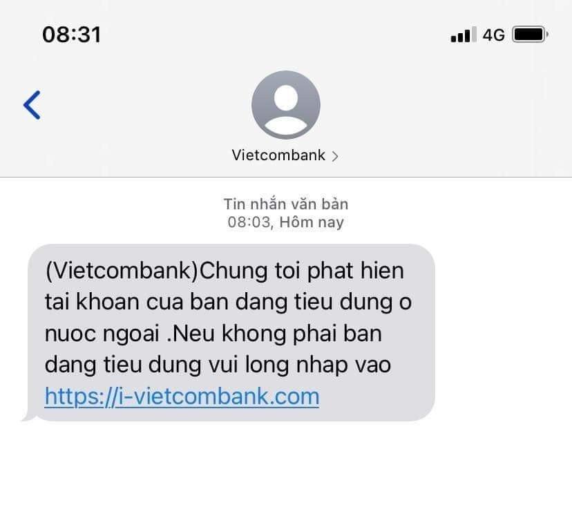 Tin nhan gia mao Vietcombank xuat hien anh 1