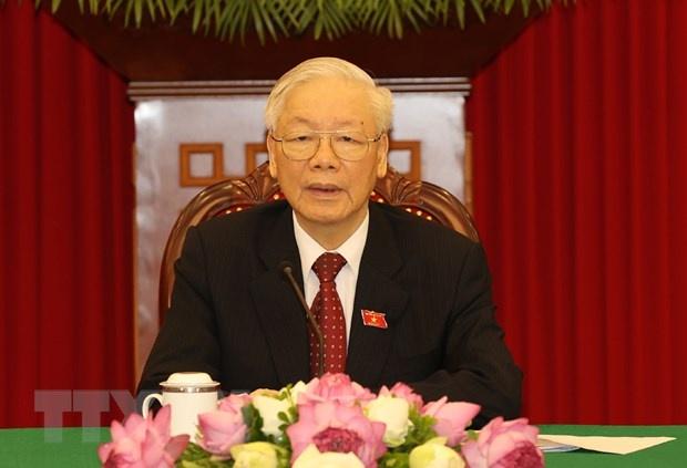 Tong bi thu Nguyen Phu Trong dien dam anh 1