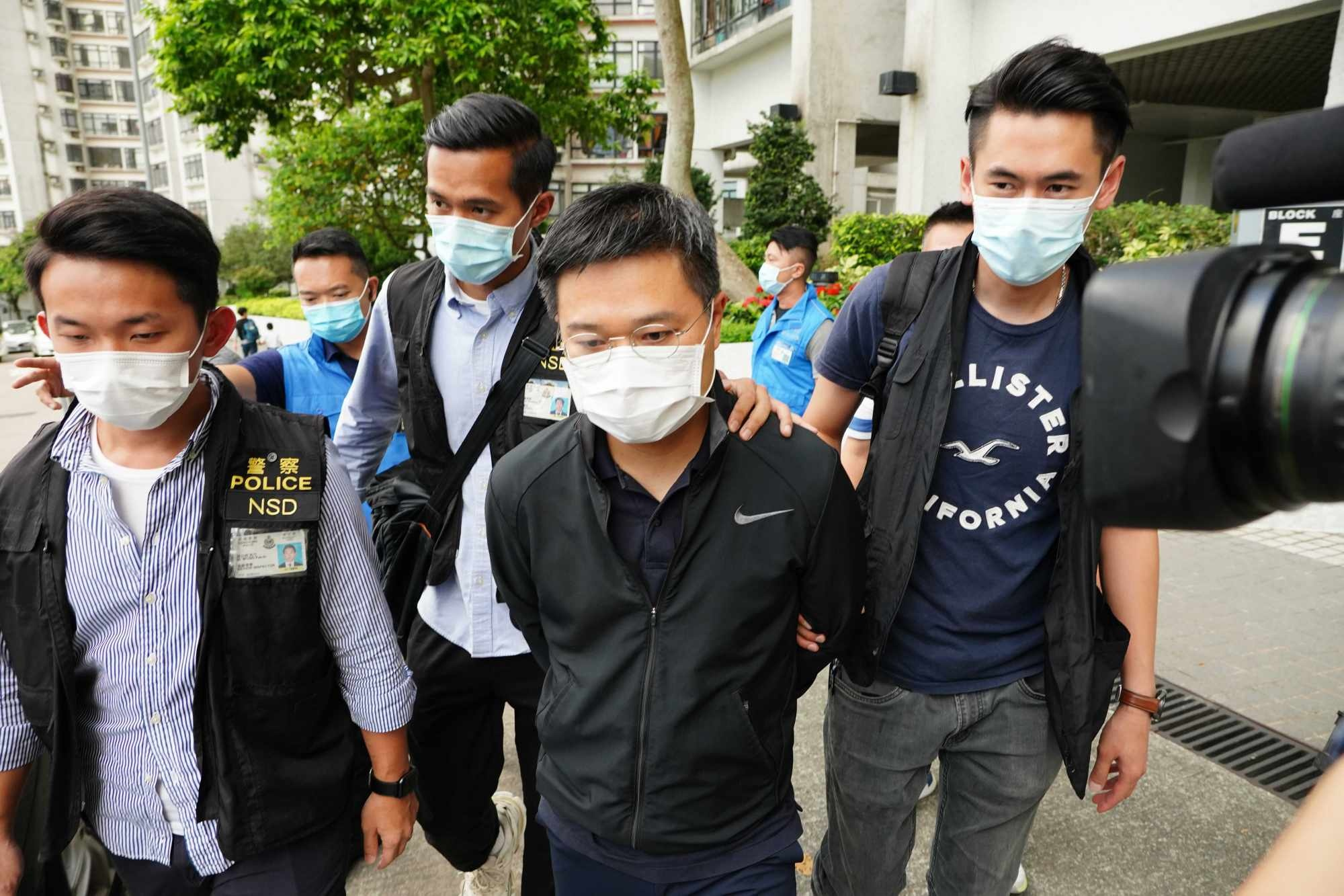 canh sat Hong Kong bat giam doc Apple Daily anh 1