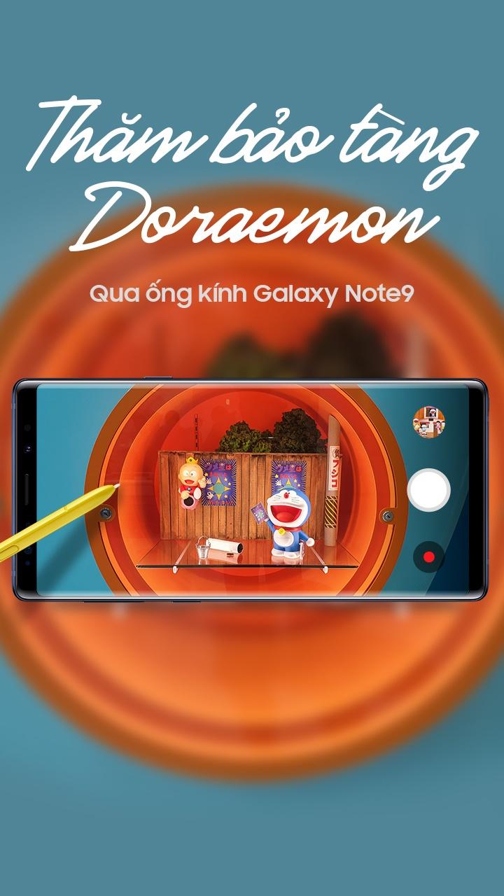Tham bao tang Doraemon qua ong kinh Galaxy Note9 hinh anh 1