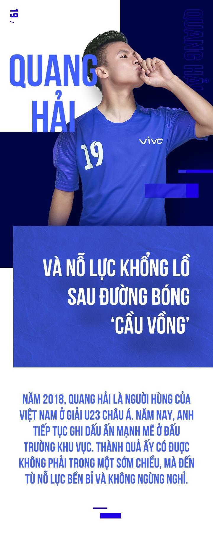 Quang Hai va no luc khong lo sau duong bong 'cau vong' hinh anh 1