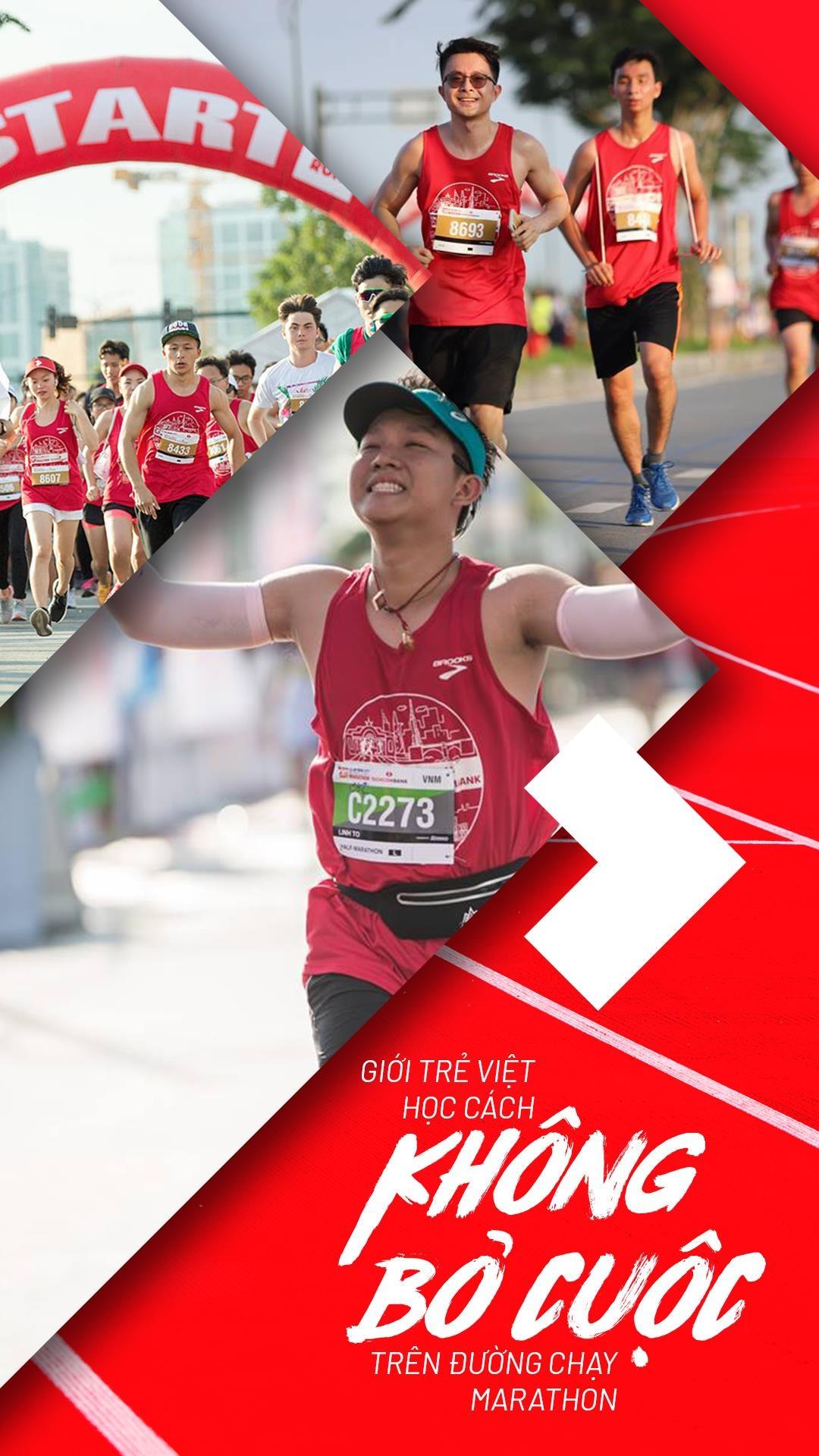 Người Việt trẻ học cách không bỏ cuộc trên đường chạy marathon