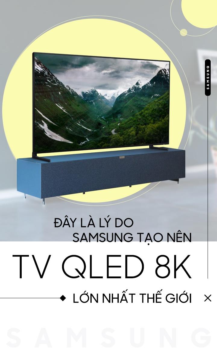 Day la ly do Samsung tao nen TV QLED 8K lon nhat the gioi hinh anh 1