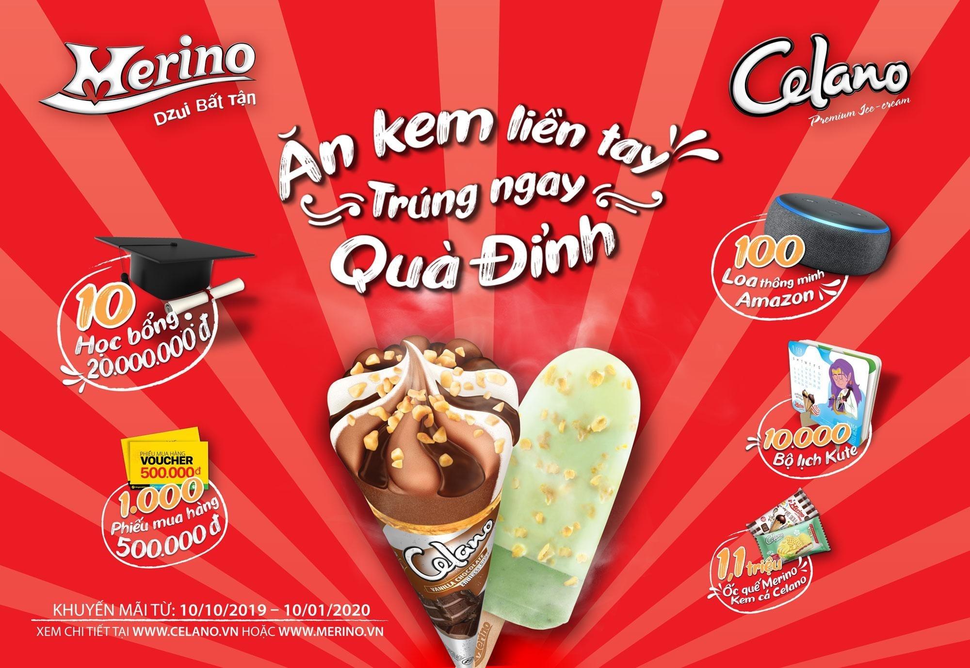 &aposĂn kem liền tay – Trúng ngay quà đỉnh&apos từ Merino và Celano – Thông tin doanh nghiệp – giamcanlamdep.com.vn
