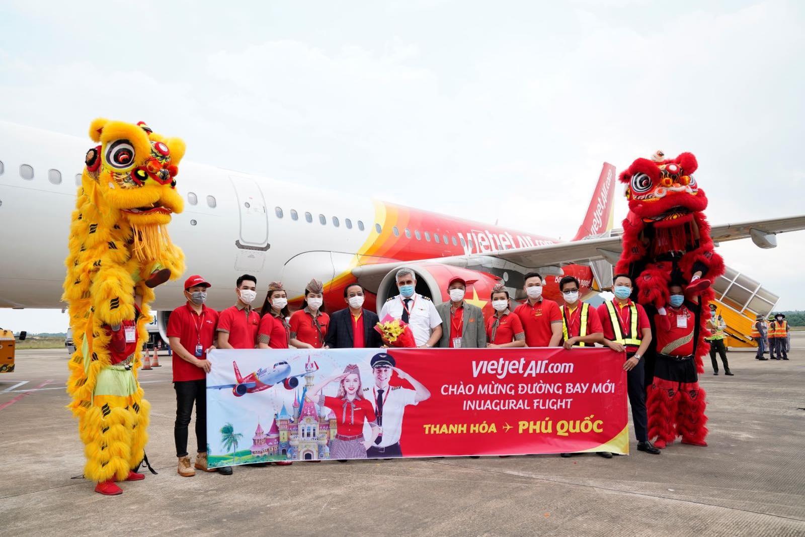 Vietjet anh 1  - Chuyen_bay_khai_truong_THD_PQC - Vietjet khai thác 10 đường bay thẳng đến Phú Quốc