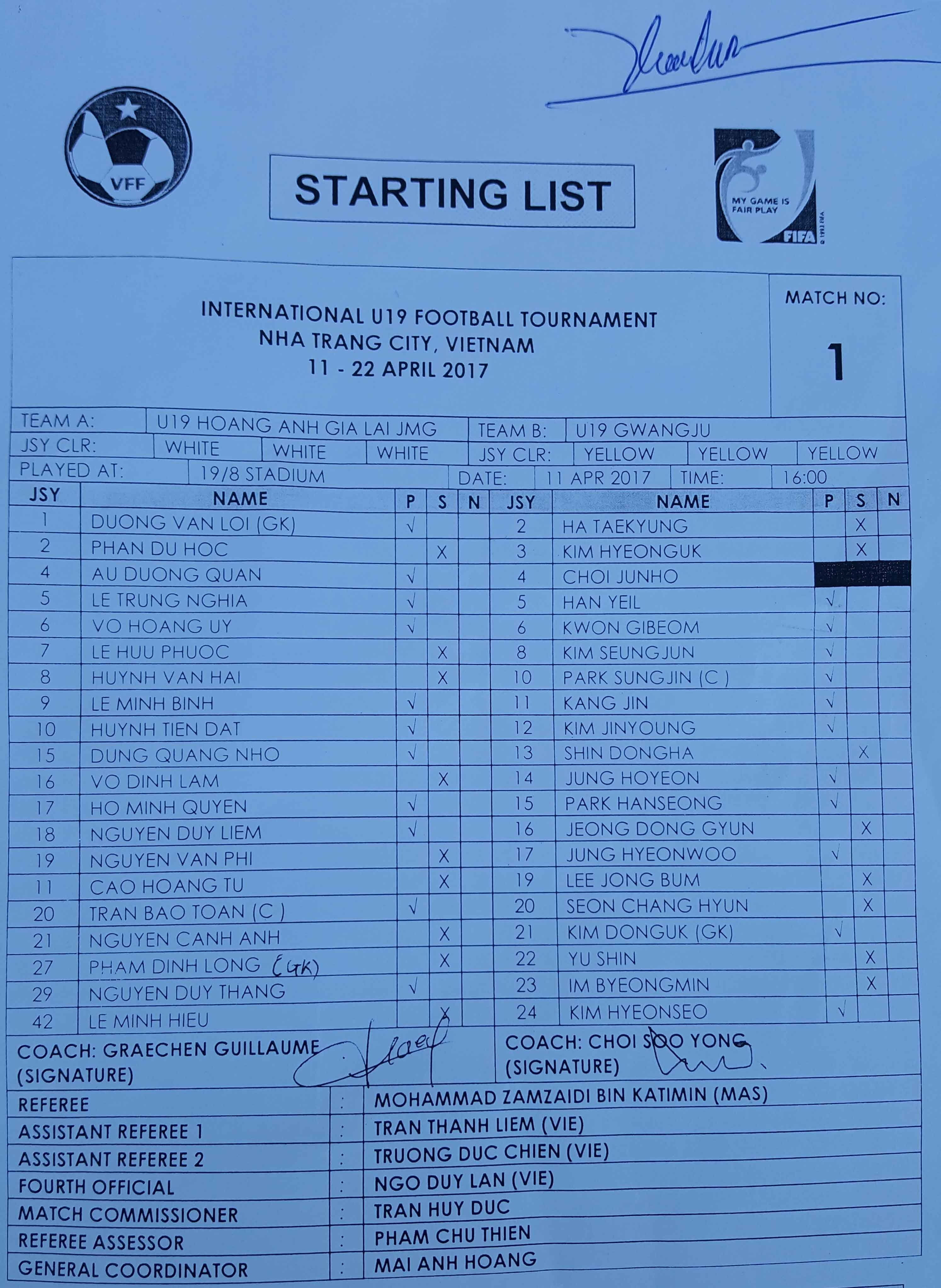 U19 HAGL vs U19 Gwangju anh 1