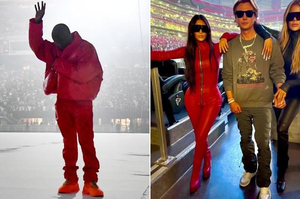 Kim Kardashian và Kanye West như diện đồ đôi