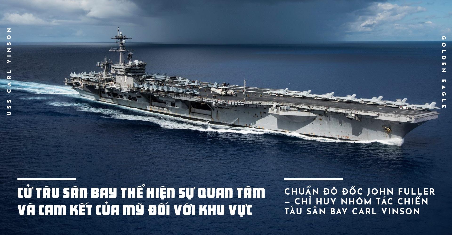 USS Carl Vinson toi Da Nang: Uy luc 'phao dai noi' tren bien hinh anh 10