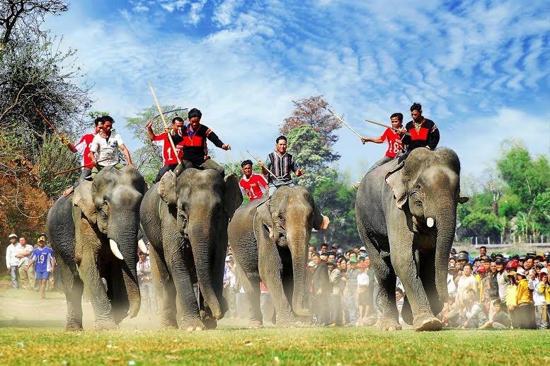 Kết quả hình ảnh cho Hội đua voi ở Buôn Đôn
