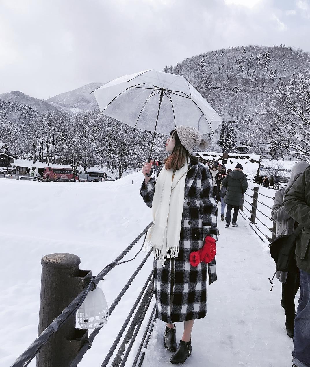 Giới trẻ say sưa tạo dáng với tuyết ở làng cổ tích Nhật Bản - ảnh 6