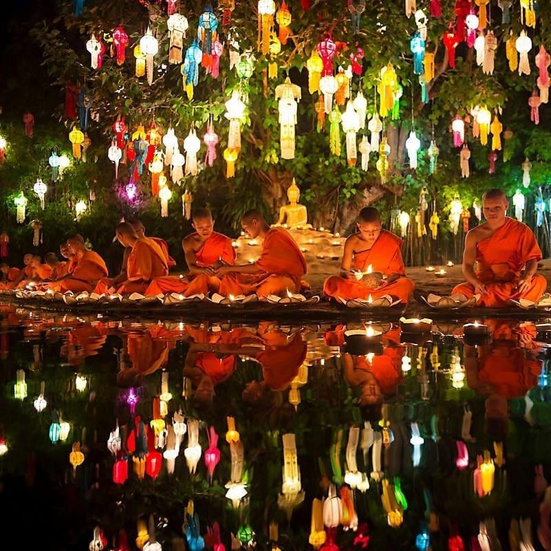 Troi dem Chiang Mai huyen ao trong le hoi den troi Yee Peng hinh anh 8