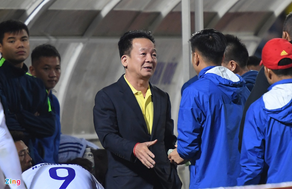Bau Hien dong vien Quang Nam sau tran thua CLB Ha Noi hinh anh 5