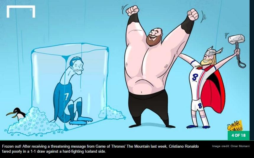 Ronaldo run ray truoc 'Thor',  Modric dung bia dap lua anh 4