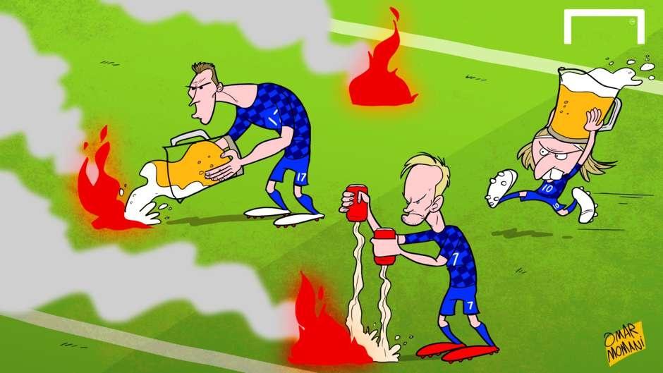 Ronaldo run ray truoc 'Thor',  Modric dung bia dap lua anh 1