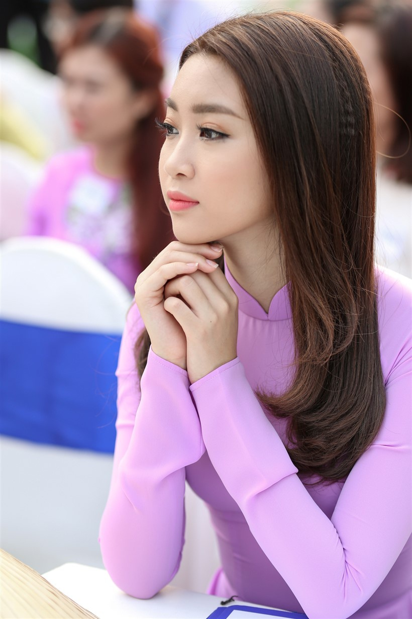 Hoa hau My Linh Le hoi ao dai anh 6