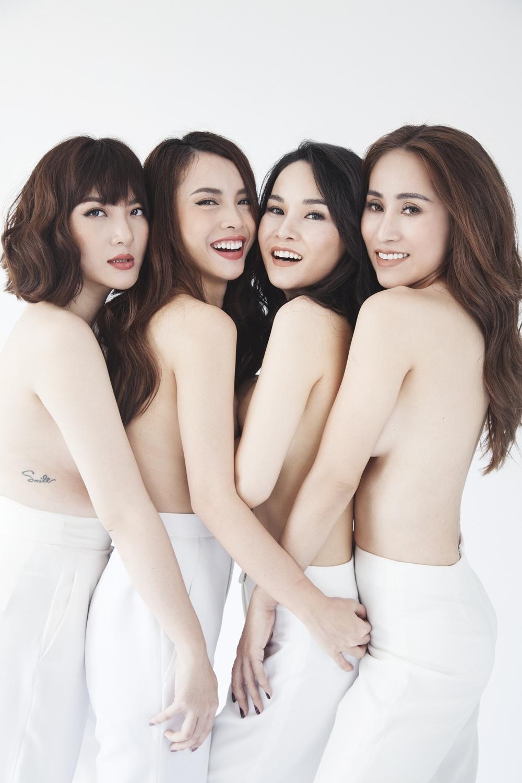 Nhom May Trang chup anh nude nhan dip tai hop tren san khau hinh anh 3