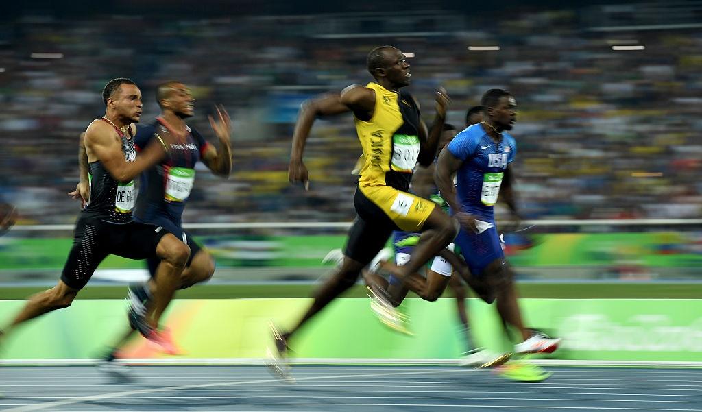 Usain Bolt hanh phuc trong vong tay CDV anh 5