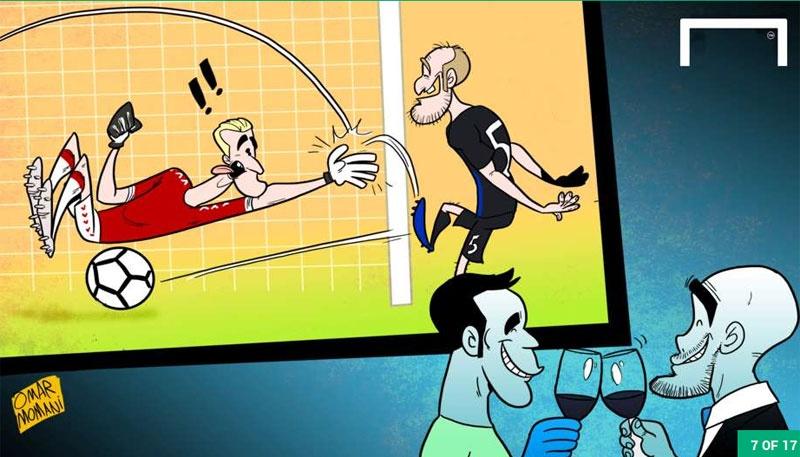 Hi hoa Jose Mourinho dam vo mat Arsene Wenger hinh anh 7