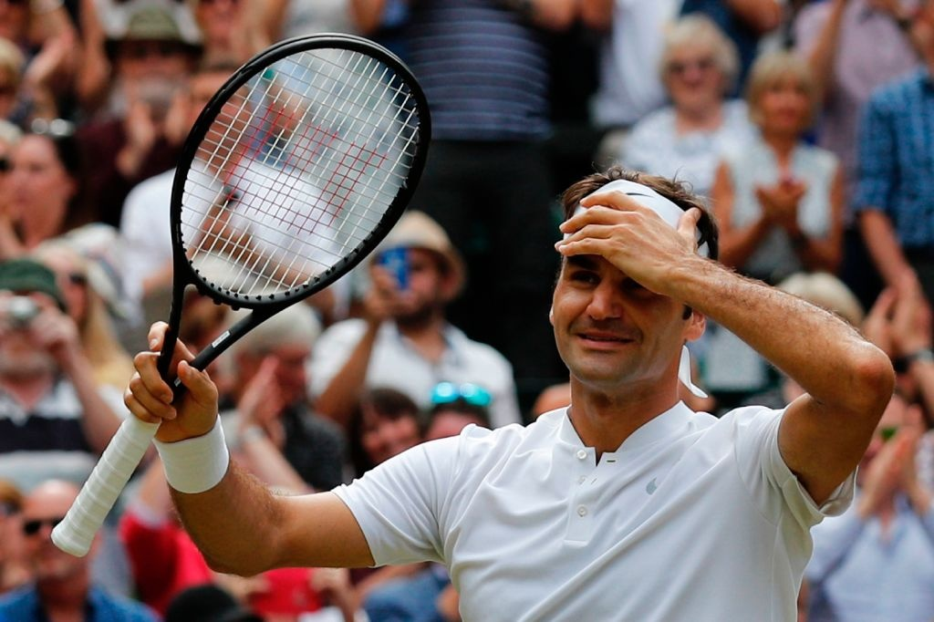 Roger Federer roi le khi lap ky luc vo dich Wimbledon hinh anh 1