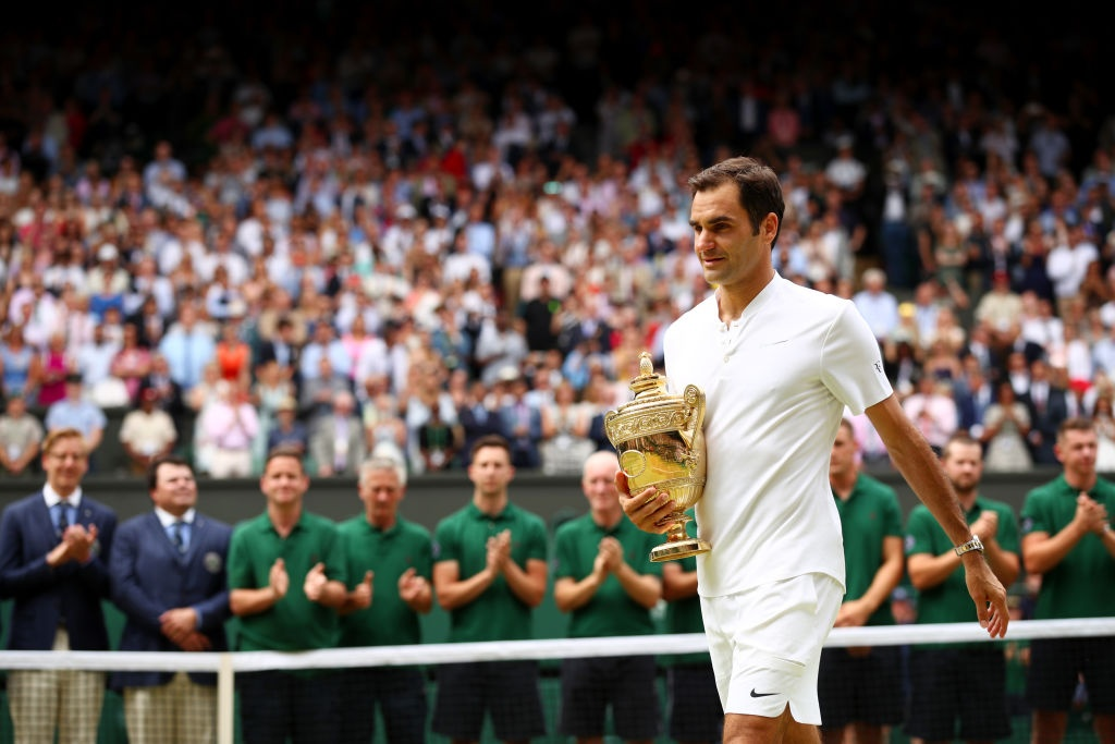 Roger Federer roi le khi lap ky luc vo dich Wimbledon hinh anh 3