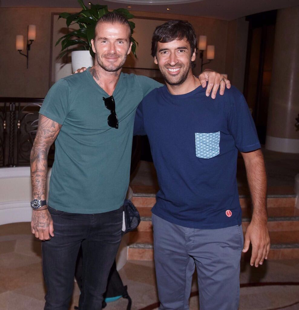 David Beckham hoi ngo voi Zidane va Raul hinh anh 2