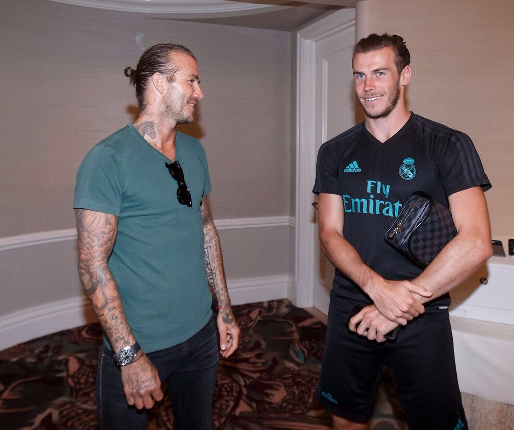 David Beckham hoi ngo voi Zidane va Raul hinh anh 5