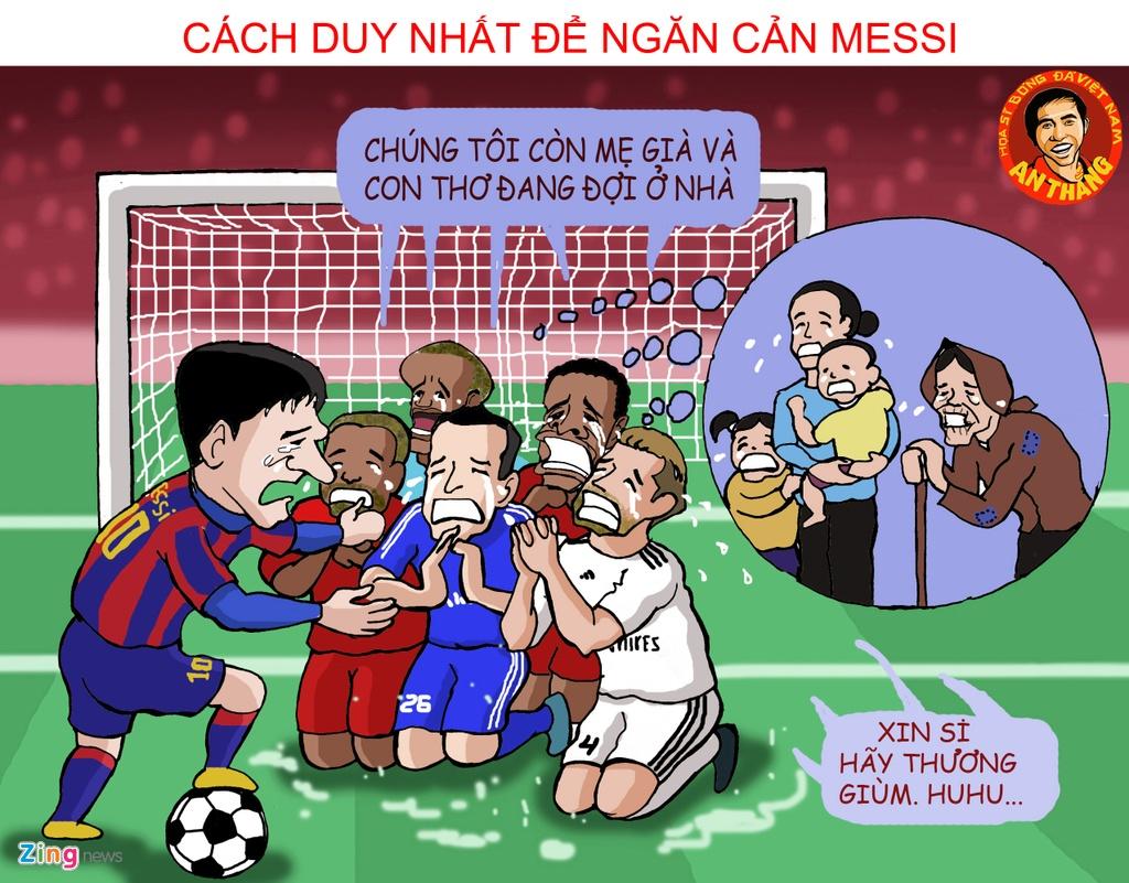 Bo tranh vui Messi gianh Qua bong vang 2015 hinh anh 5