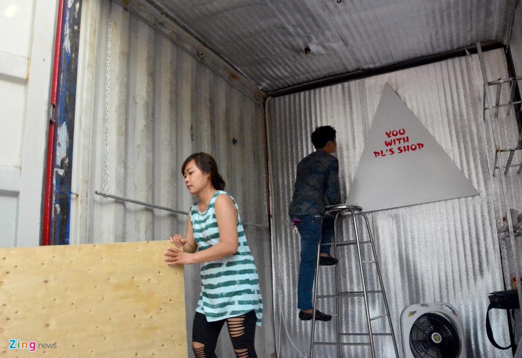 Cho lam bang thung container o ngoai o Sai Gon hinh anh 8