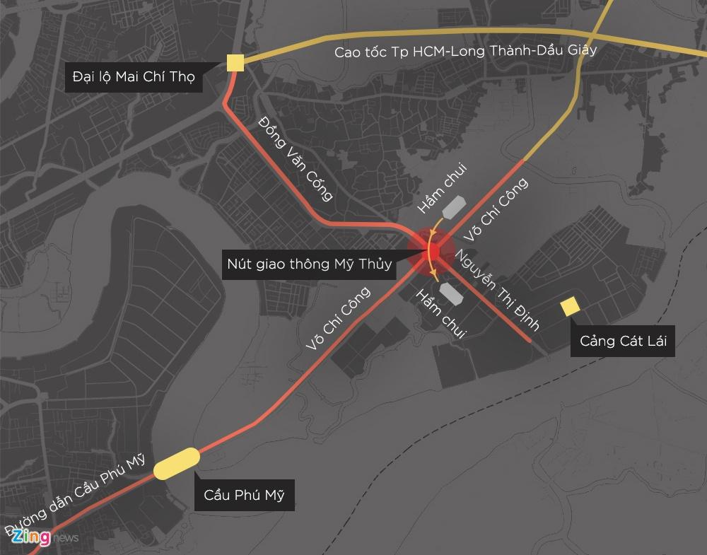 Thong xe ham chui doan duong 8 km di mat 6 tieng o Sai Gon hinh anh 17