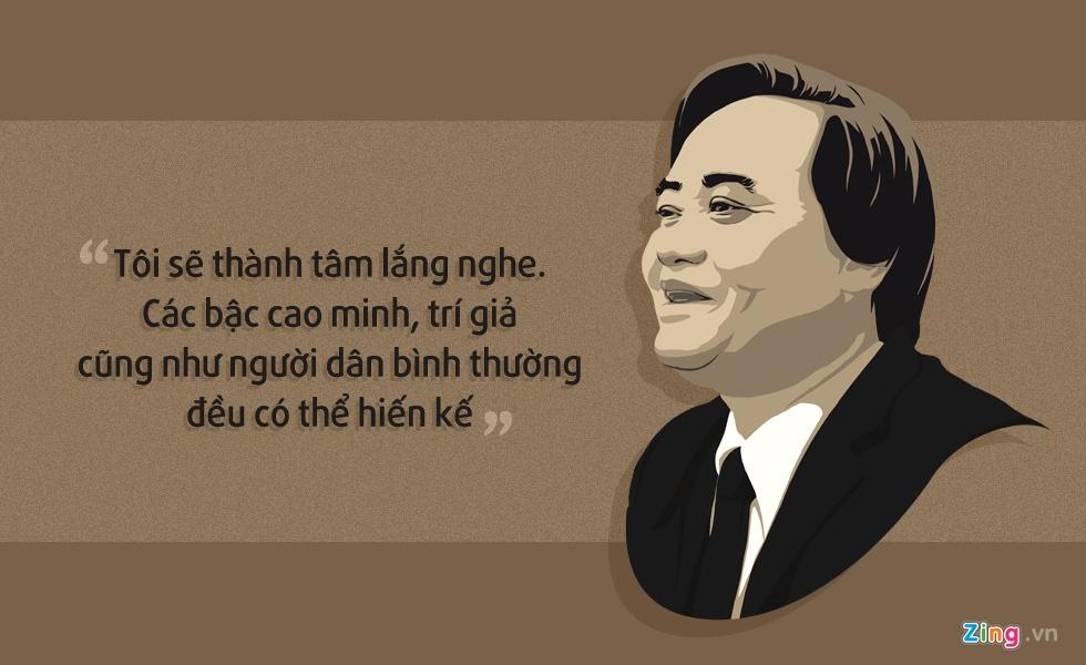 10 phat ngon an tuong cua Bo truong Phung Xuan Nha hinh anh 4