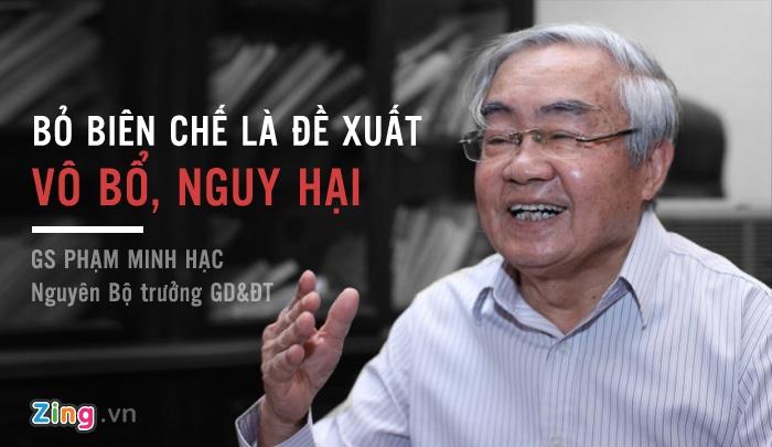Nguyen Bo truong GD&DT: 'Bo bien che la de xuat nguy hai va vo bo' hinh anh 1