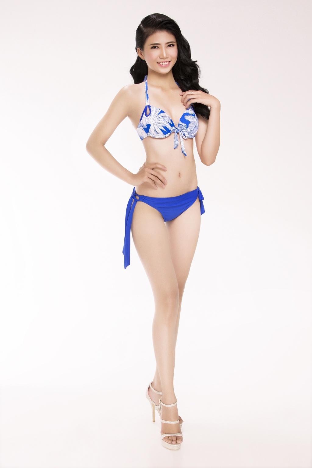 Nguoi dep Hoa hau Viet Nam 2016 tao dang voi bikini hinh anh 12