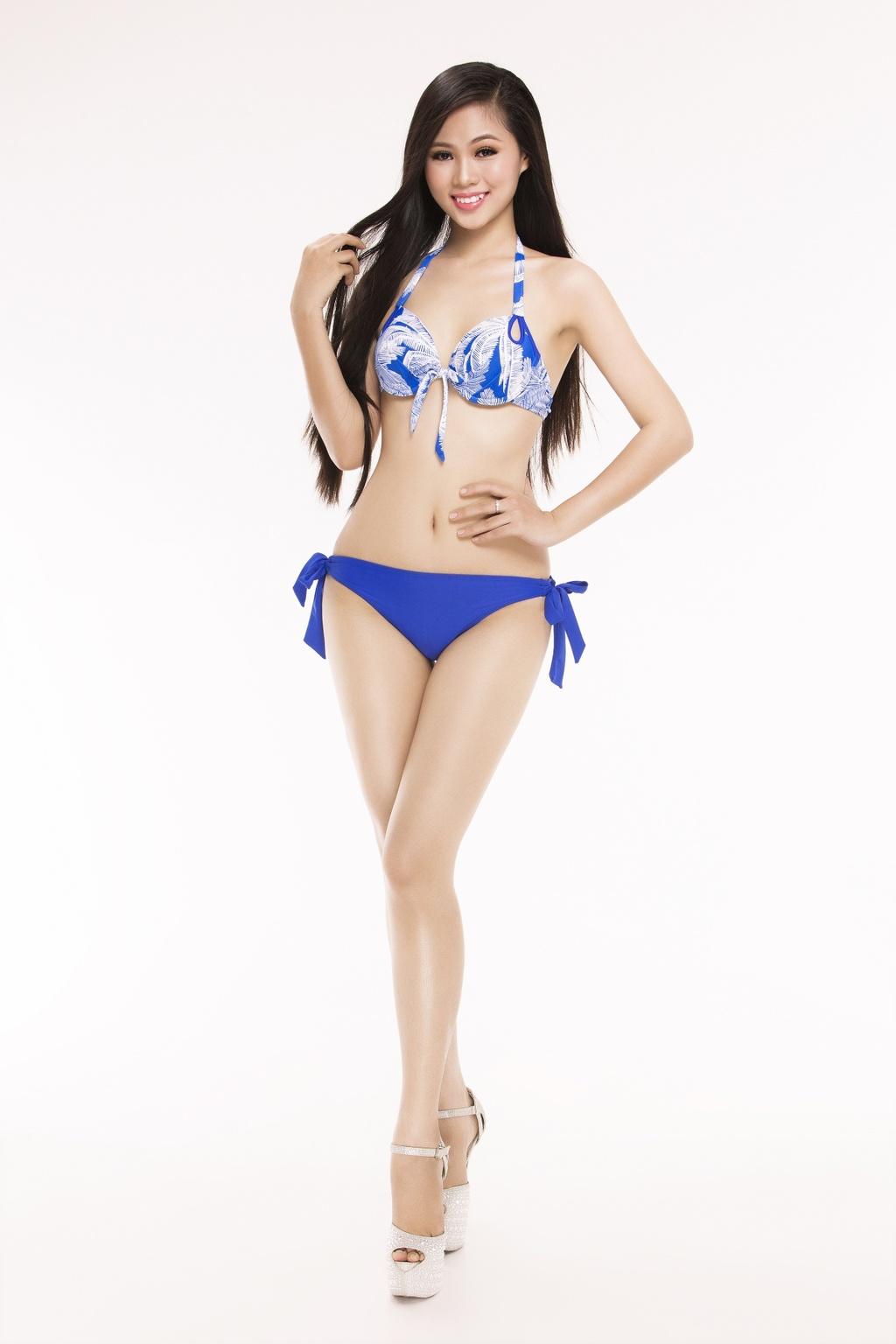 Nguoi dep Hoa hau Viet Nam 2016 tao dang voi bikini hinh anh 19