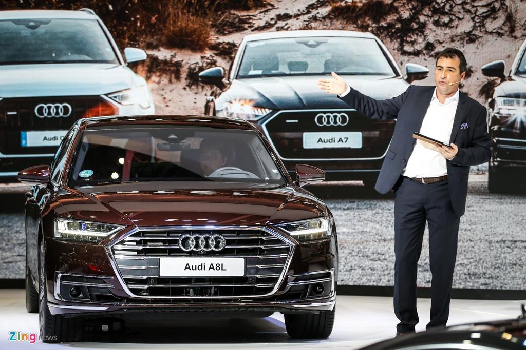 Kham pha Audi A8L 2019 - sedan dau bang canh tranh Mercede S-Class hinh anh 3