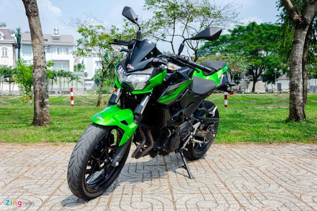 Cac mau moto gia 150 trieu phu hop cho nguoi moi choi hinh anh 7 Kawasaki_Z400_03_Zing.jpg