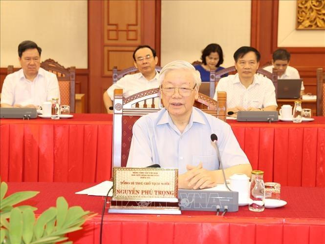 Bo Chinh tri lam viec voi Thanh uy Ha Noi anh 3